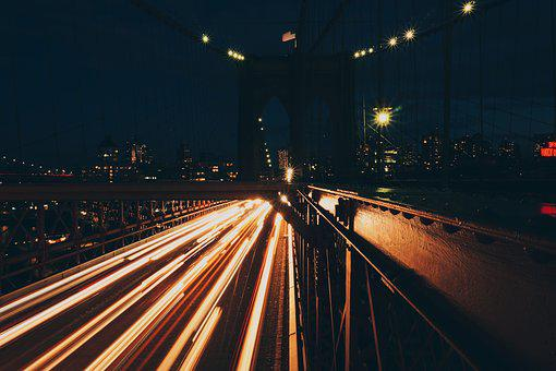 Urban, City, Dark, Night, Long Exposure, Photography