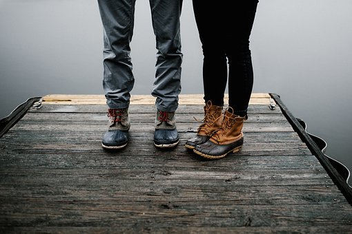 Boots, Shoes, Footwear, Wooden, Floor, Jeans, People