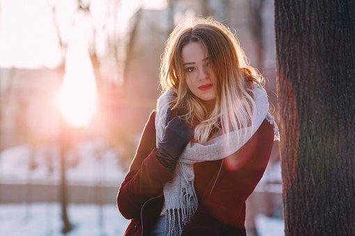 People, Woman, Beauty, Cold, Weather, Snow, Winter