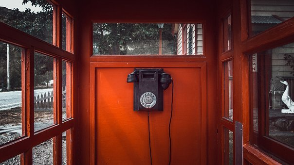 Telephone, Number, Dial, Wire, Ring, Red, Cube, Box