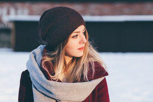 People, Woman, Fashion, Cold, Weather, Beauty, Scarf