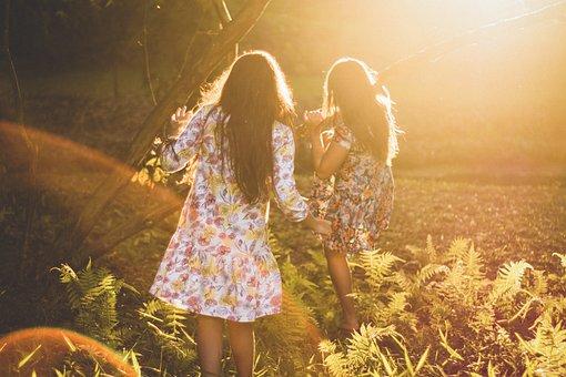 People, Woman, Parent, Sun, Dress, Summer, Autumn, Fall
