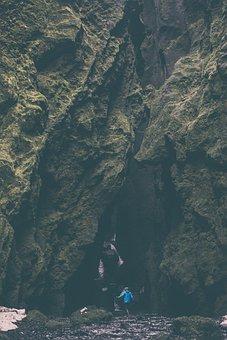 People, Woman, Travel, Adventure, Rocks, Nature, Cave