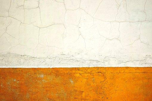 Wall, Cracks, White, Yellow, Damage