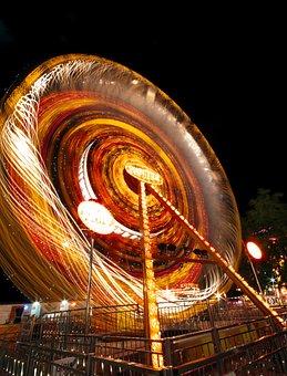 Amusement Park, Ferris Wheel, Composition, Background