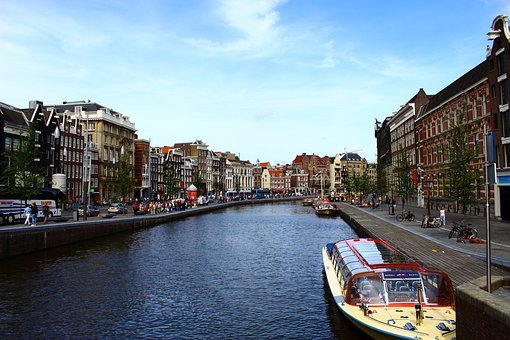 Amsterdam, City, Netherlands, Holland, Channel, Canal