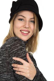 Laugh, Hat, Fashion, Women's, Studio, White Fund