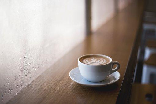 Coffee, Bean, Seed, Cafe, Wood, Cup, Mug, White, Plate