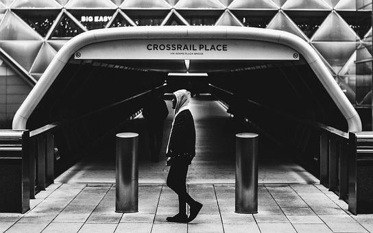 People, Walking, Alone, Man, Male, Guy, City