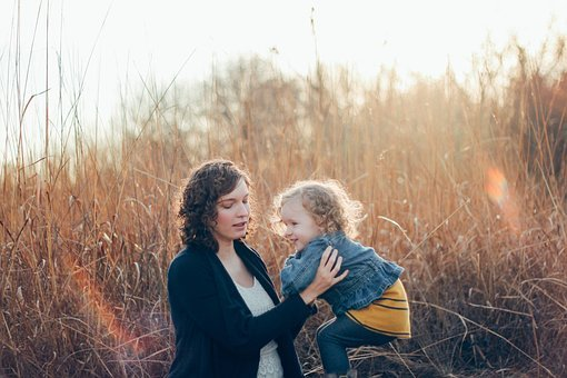 People, Woman, Parent, Baby, Kid, Child, Grass, Happy