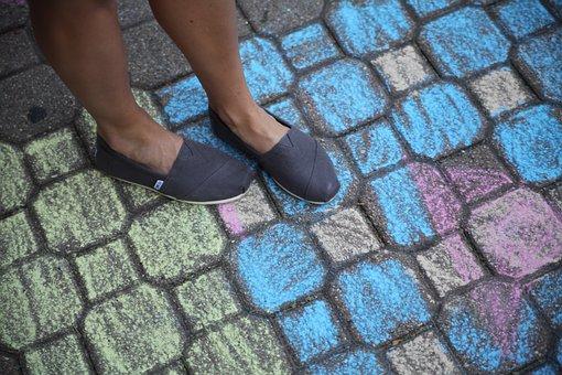 Shoes, Toms, Floor, Color, Bricks, People, Man