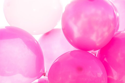 Pink, Balloons, Shiny, Reflect, White, Party, Event