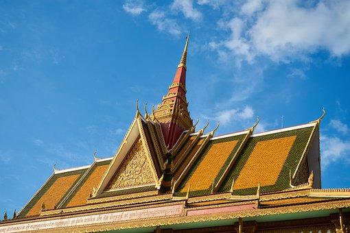 Asian, Thailand, Cambodia, Roof, Temple, Religion