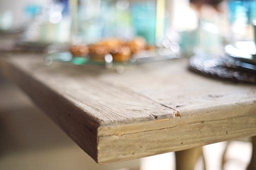 Table, Corner, Macro, Wood-fibre Boards, Wood, Texture