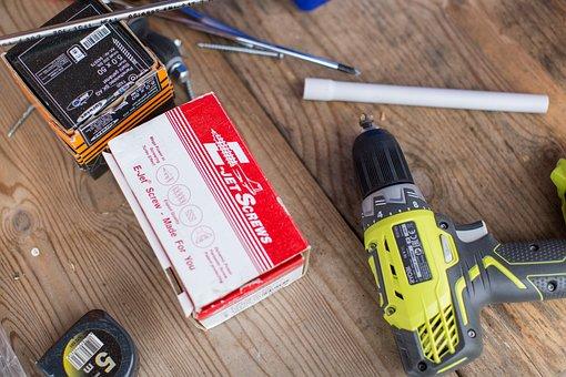 Tools, Hammer, Screwdriver, Table, Pliers, Screw