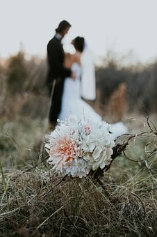Wedding, Marriage, Bride, Flowers, Bouquet, Dress, Ring