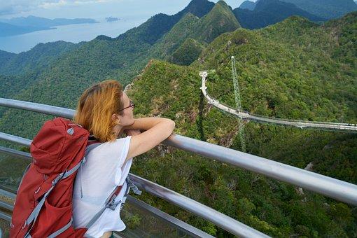 Tourist, Women's, Landscape, Tired, Beautiful, Woman