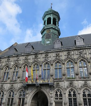 Belgium, Mons, City ​​hall, Belfry, Architecture