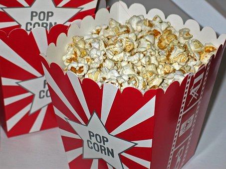 Popcorn, Cinema, Snack, Corn, Sweet, Nibble, Food