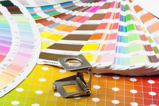 Magnifying Glass, Color Fan, Pantone, Printing Inks