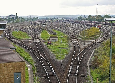 Marshalling Yard, Tracks Harp, Kornwestheim, Stuttgart