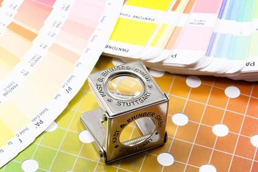 Magnifying Glass, Thread Counters, Color Fan, Pantone