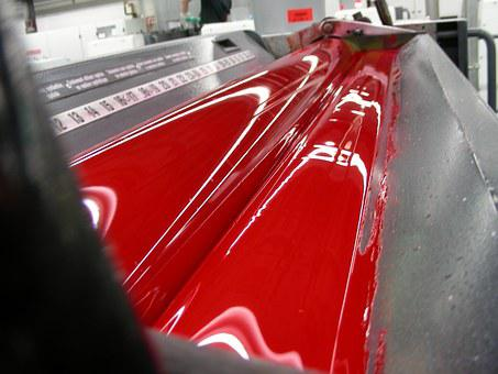 Color, Roll, Color Roller, Printing, Red, Paint