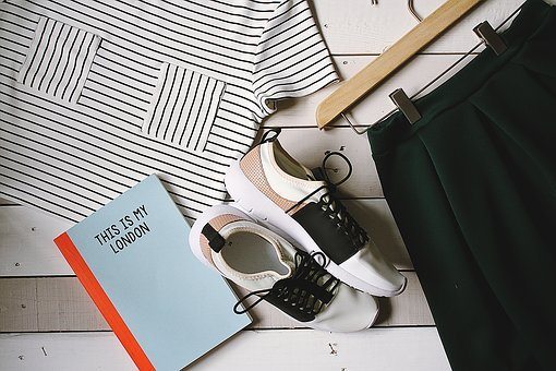 Shoes, Book, Notebook, Shirt, Hanger, Fashion, Clothes