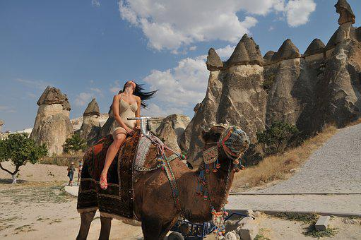 Camel, Cappadocia, Tourist, Fairy Chimneys, Rock, Stone