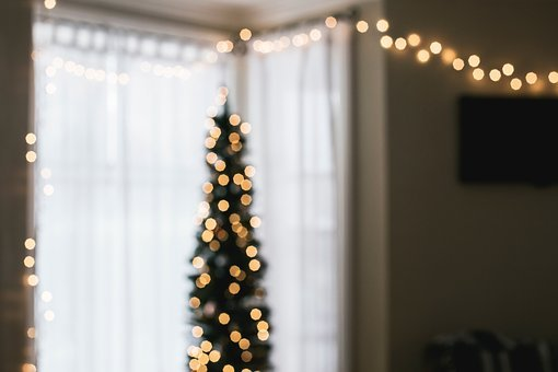 House, Interior, Design, Christmas, Lights, Window