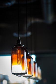 Light, Bulb, Electricity, Blur, Bokeh, Lamp, Night