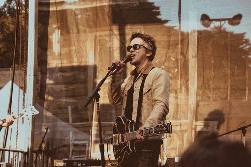People, Man, Singer, Singing, Stage, Microphone