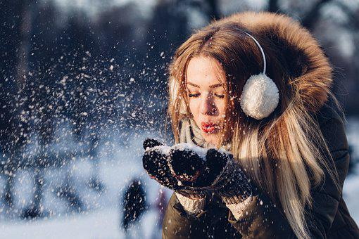 People, Woman, Cold, Weather, Snow, Fur, Jacket