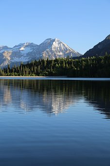 Lake, Water, Reflection, Trees, Plant, Nature, Mountain