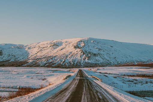 Road, Path, Snow, Winter, Highland, Mountain, Landscape