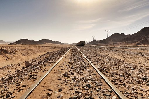 Mountain, Desert, Highland, Steel, Metal, Railway