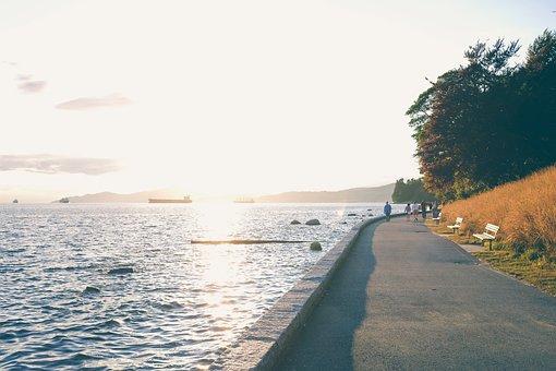 Sea, Ocean, Water, Waves, Nature, Road, Street, Path