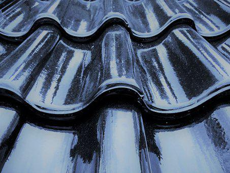 Roofing Tiles, Roof, Tile, Covered, Precipitate