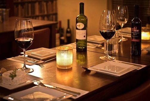 Bistro, Wine, Romantic, Intimate, Table, Bar, Dining