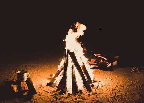 Fire, Flame, Bonfire, Campfire, Dark, Night, Heat