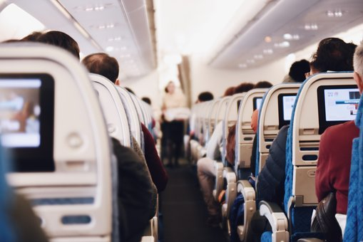 Indoor, Airplane, Airline, People, Sitting, Passengers