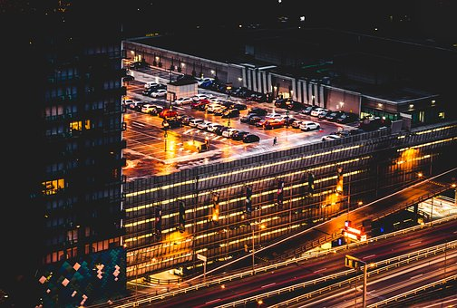 Architecture, Building, Infrastructure, Night, Lights