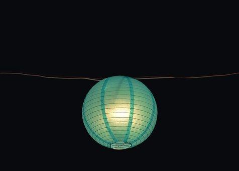 Dark, Night, Blue, Lantern, Light, Bulb