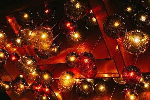 Christmas, Lighting, Red, Ball, Lamp, Bulb, Design