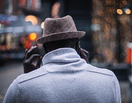 People, Man, Male, Back, Hat, Talking, Mobile, Phone