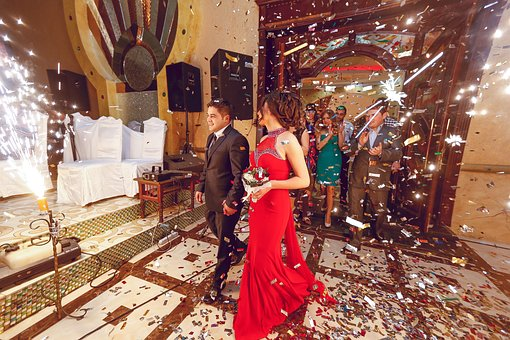 People, Man, Woman, Male, Female, Suit, Gown, Ballroom