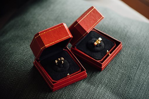 Wedding, Ring, Proposal, Marriage, Couple, Box, Red