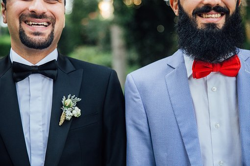 People, Men, Male, Suit, Wedding, Tie, Beard, Smile