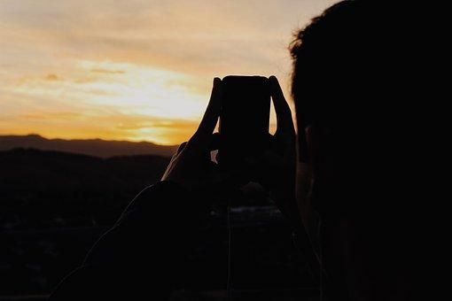 Sky, Cloud, Mountain, Sunset, Silhouette, Dark, Mobile