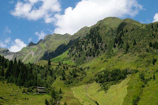 South Tyrol, Hill, Alpine, Rock, Panorama, Green